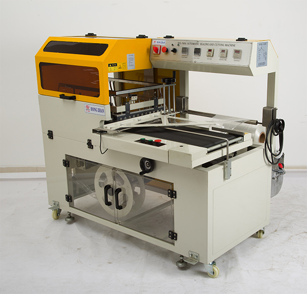 Auto Sleeve Sealer with Shrinking Tunnel for Carton Box Bottles Cans Big Heavy Product Sealing Shrinking Wrapping and Packing
