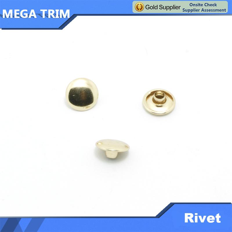 Metal Round Head Push Rivet for Bags