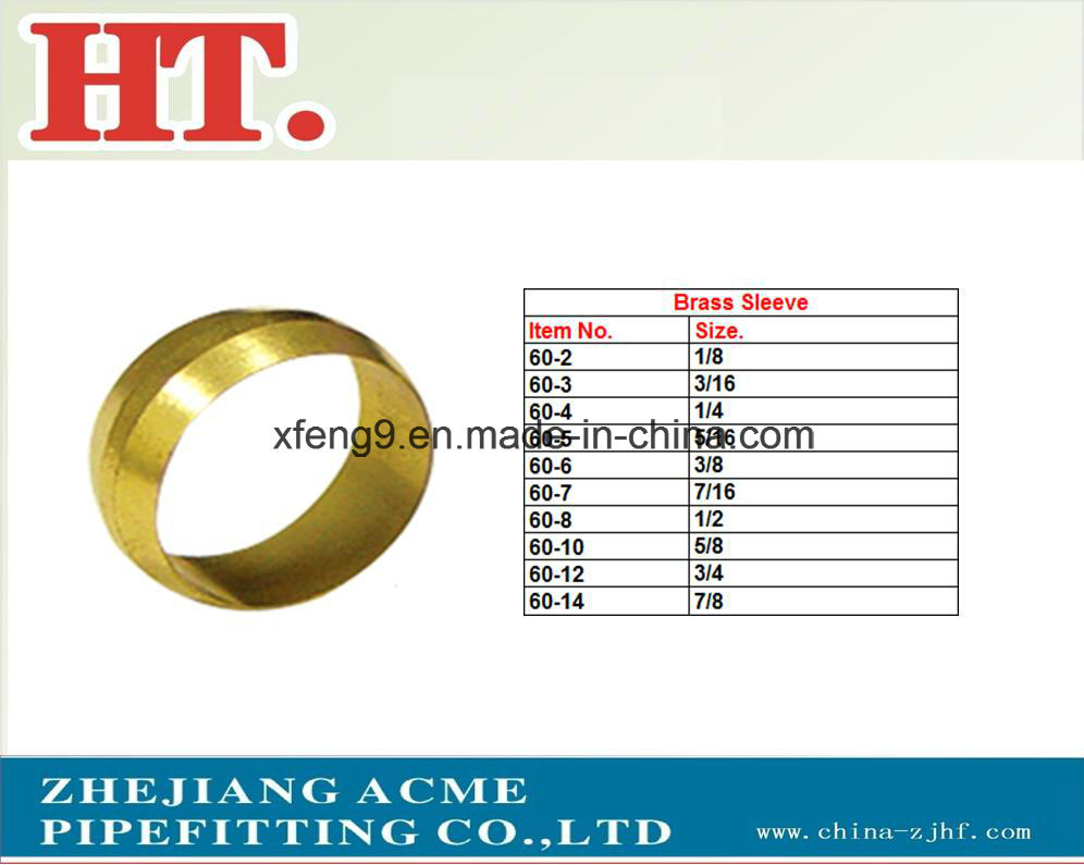 Brass Pipe Fitting Brass Sleeve