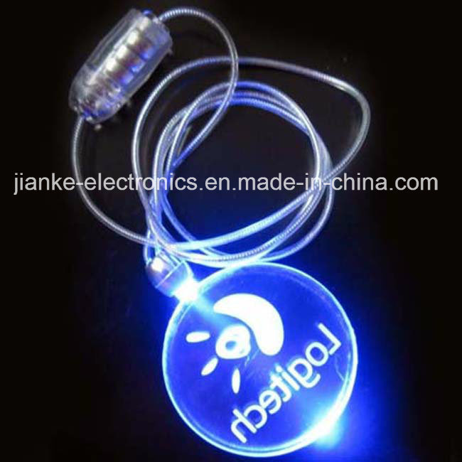Promotional LED Flashing Light Necklace with Logo Printed (2001)