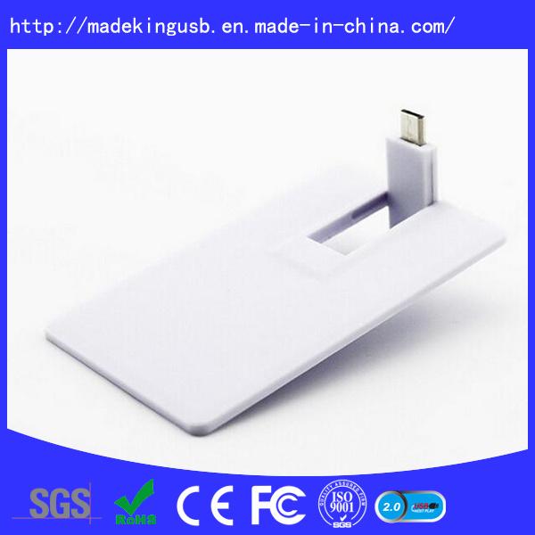 Plastic OTG Business Credit Card Shape USB Flash Drive