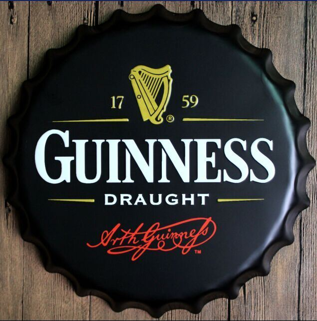 Fashion Embossed Metal Sign with Drink Logo 3D Metal Sign
