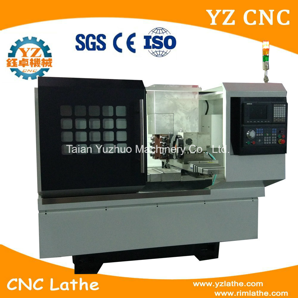 with Drilling Head Flat Bed CNC Turning ...