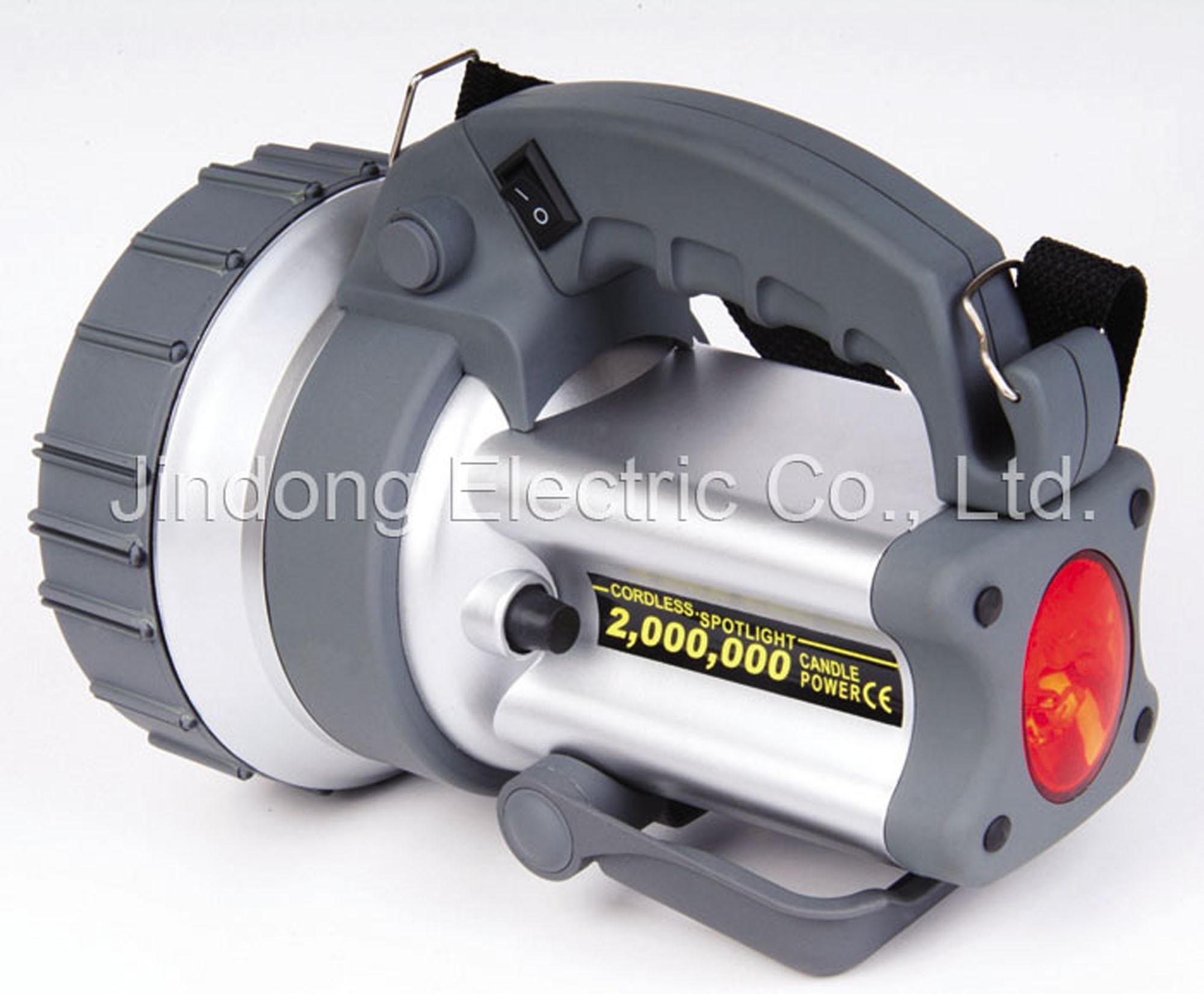 China rechargeable spotlight with 4 led flashlight jdi 1007a china spot light working lamp