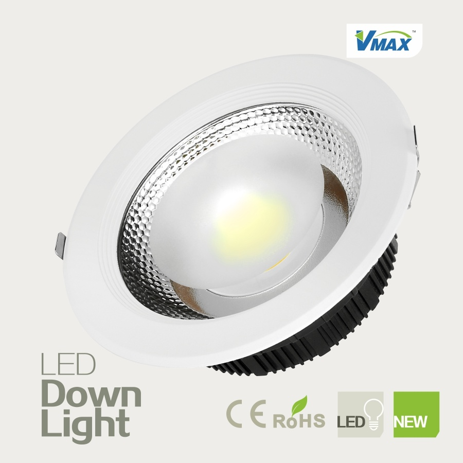 Super Brightness High CRI COB Light Source No UV Radiation 45W LED Downlight Recessed