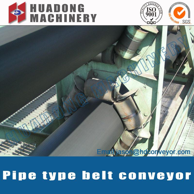 Material Handling Curve Belt Conveyor Pipe Conveyor