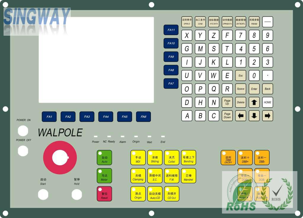 Singway Useful Membrane Switch, Silicone Keypad
