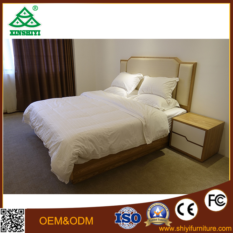 Hotel Bed Furniture Wood Bed Set Beautiful Table and Sofa