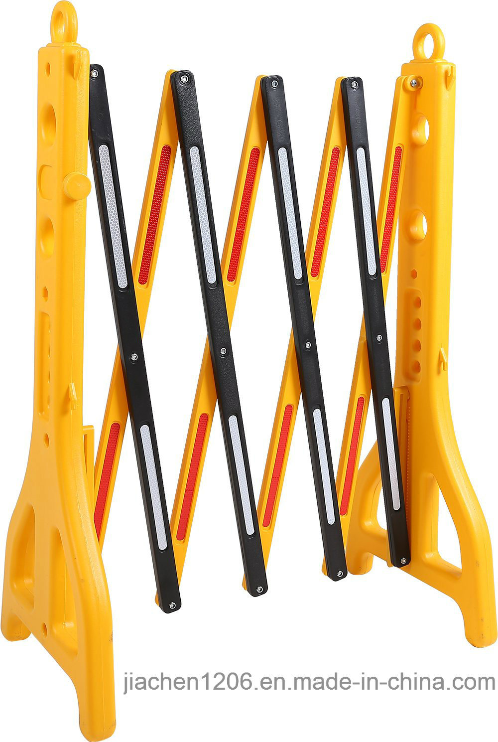 Durable Plastic Traffic Pedestrian Expandable Barricade Water-Fillable PE Expandable Fence