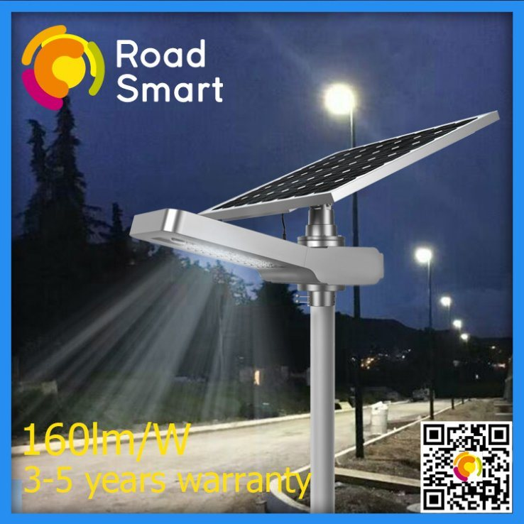 40W LED Solar Garden Street Lamp with LiFePO4 Lithium Battery