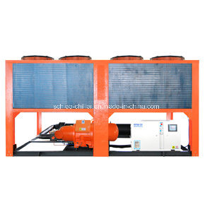 350kw Industrial Process Air Conditioning Air Cooled Screw Water Chiller