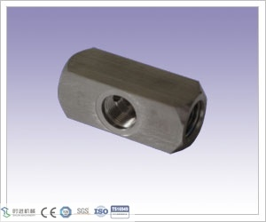 High Cost Performance CNC Machining Stainless Steel 1/4f-F Miniature Valve Body for Valve Part