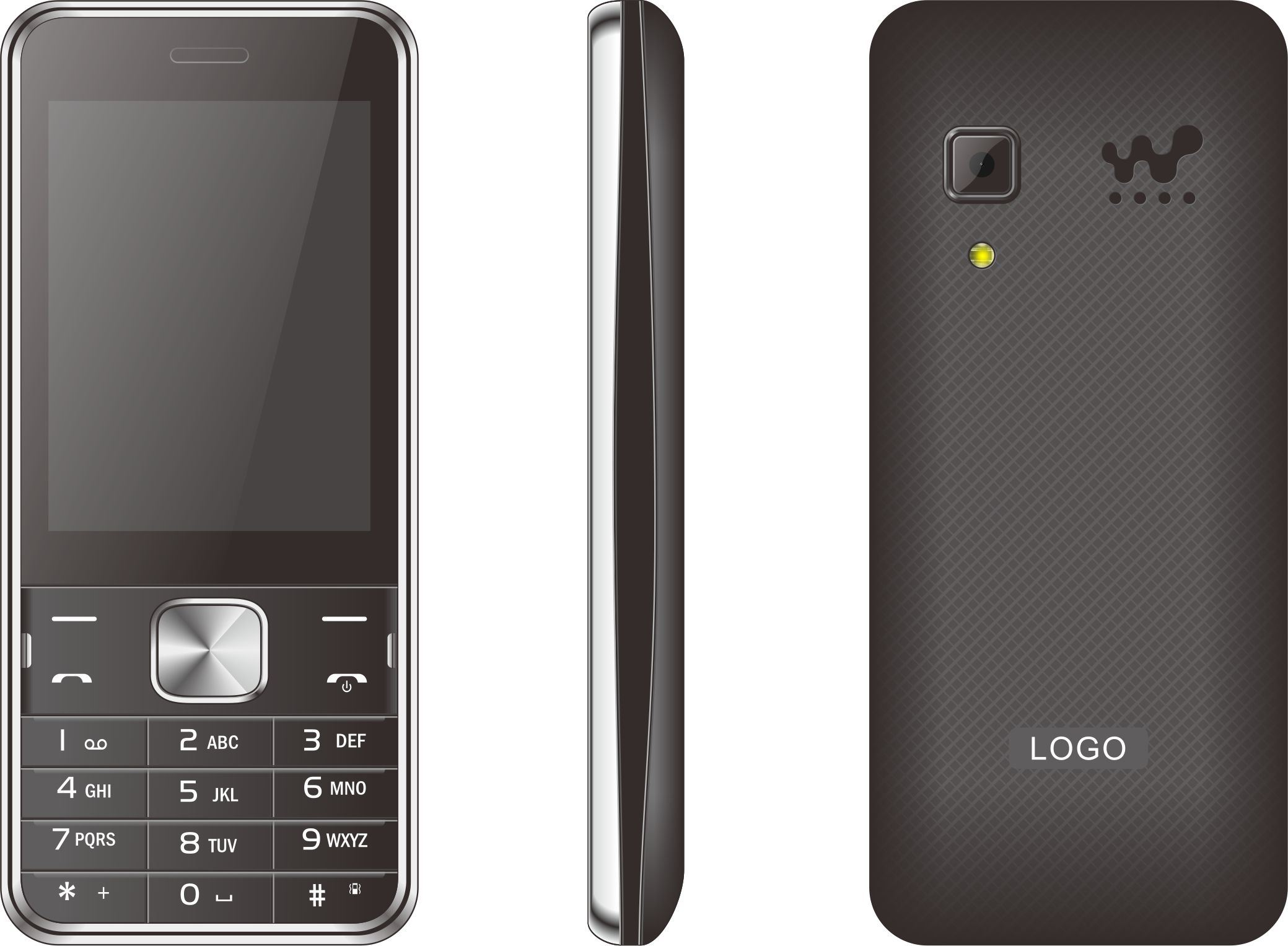 Cheapset Price 2.8inch Feature Mobile Phone Many Color Can Choose H2