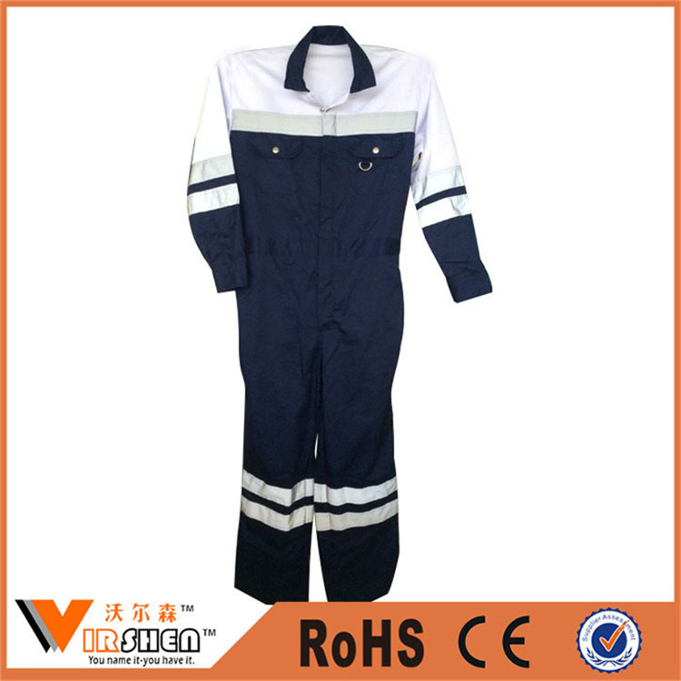 100% Cotton Reflective Workwear Coverall Fire Safety Clothing