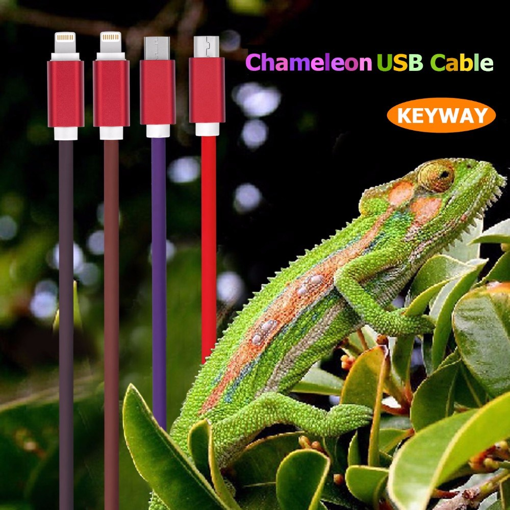 Magical Thermal Temperature Color Changed Heat Sensitive Charging USB Cable