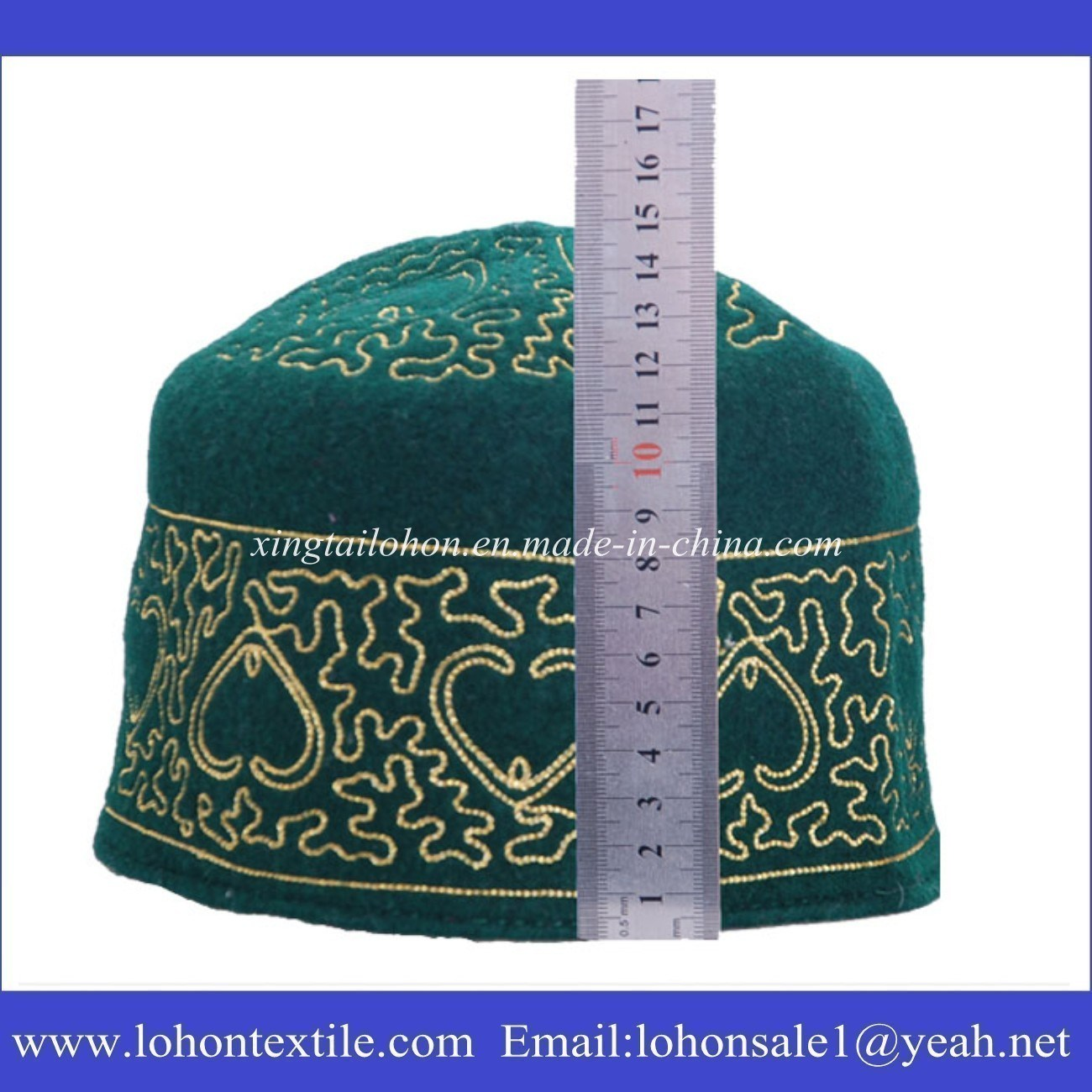 Muslim Prayer Hat Muslim Cap Wool Cap for Middle Eastern Man