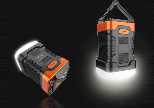 High Quality 2 in 1 Waterproof Camping Lantern & Rechargeable Power Bank Combo