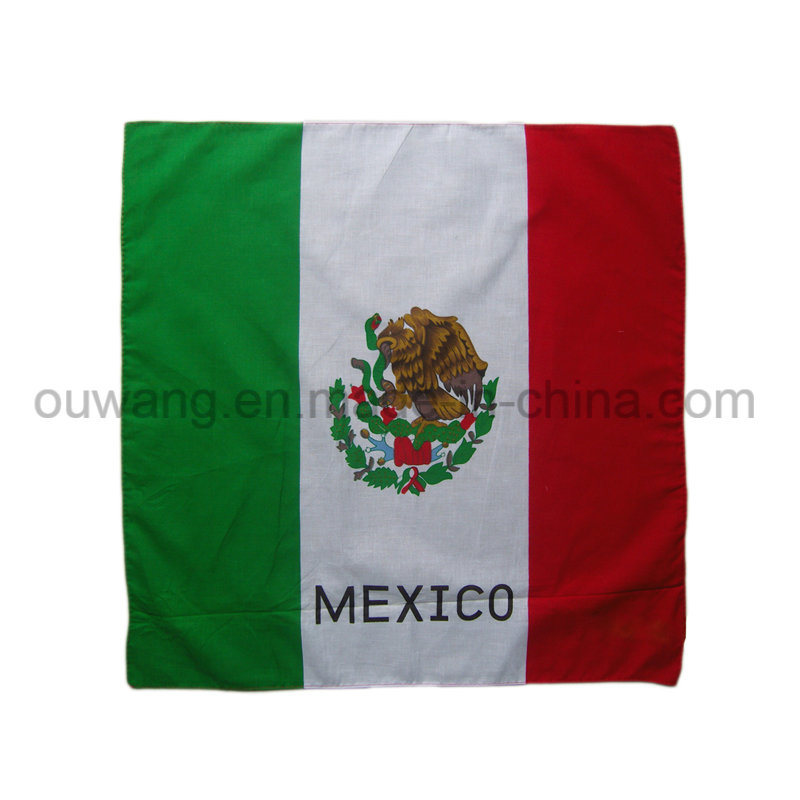 Custom National Flag Promotional Square Bandana 100% Cotton