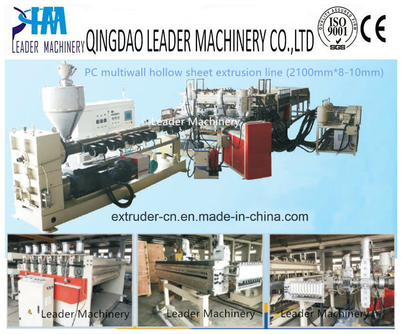 Double Wall/Triple Wall/Multiwall Polycarbonte PC PP Hollow Grid Sheet Extrusion Line