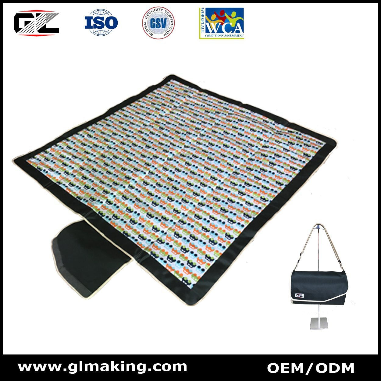 Glmat01 - Picnic Mat with Pattern From Manufacturer