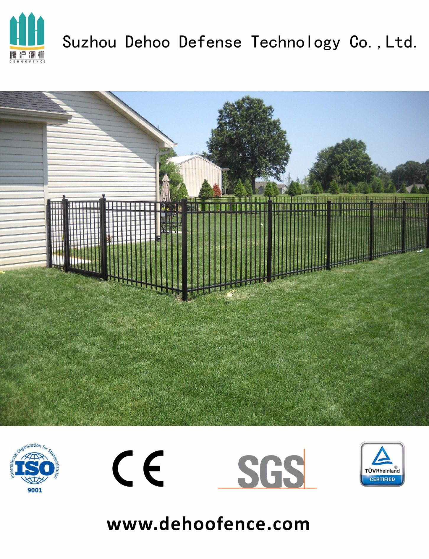 Welded Galvanized Black Powder Coated Fence for Garden