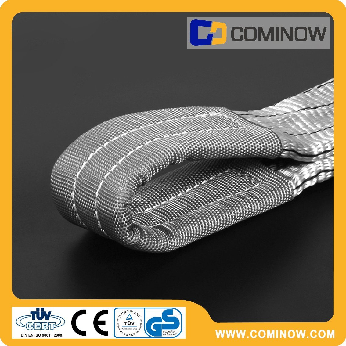 4000kgs Polyester Flat Webbing Slings Double Ply Eye to Eye Type En1492-1 with Ce&GS