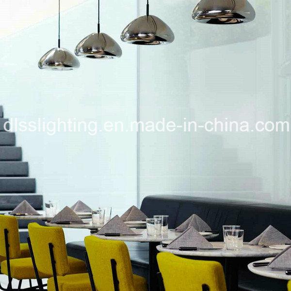 Modern Design Mushroom Shape Glass & Iron Pendant Lamp for Interior Decoration Lighting
