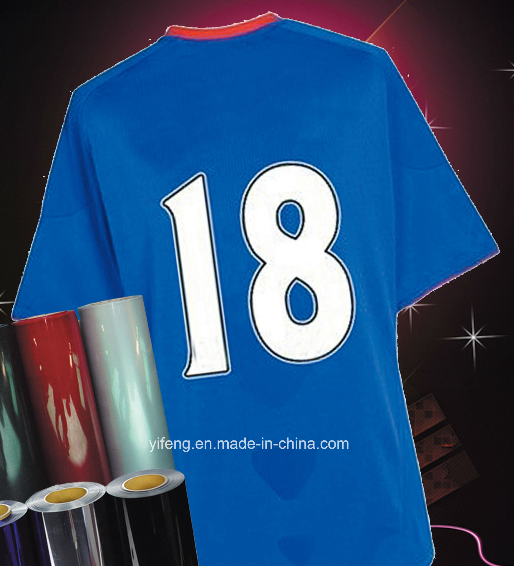 Heat Transfer Stickers Sports Number Printing for Sportswear