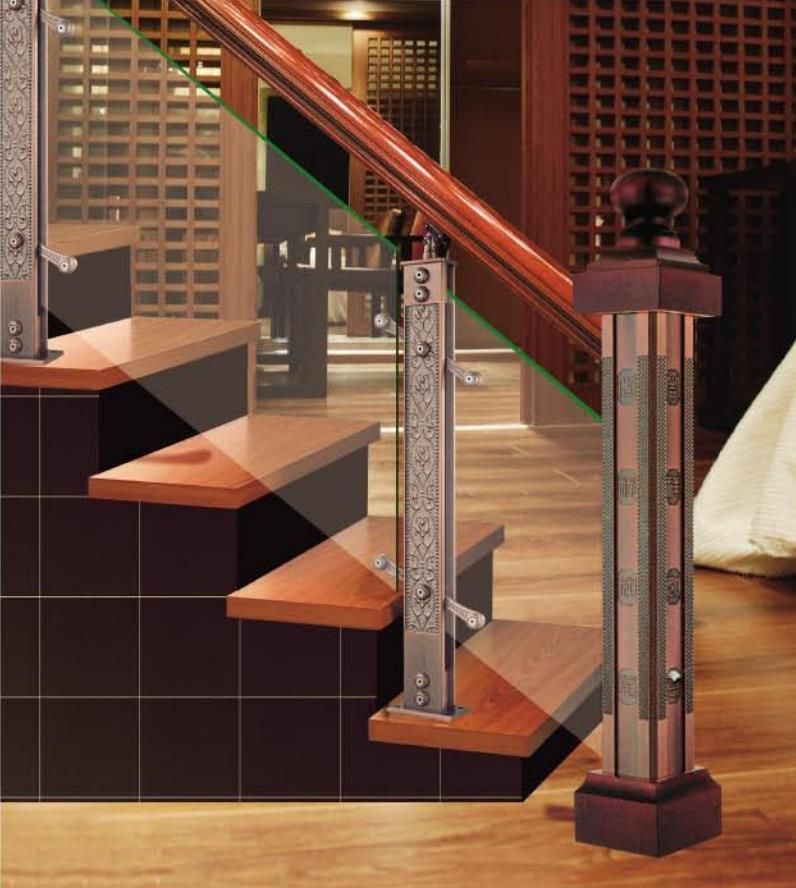 Chinese Style Classic High-End Design Hotel Villa Staircase General Column
