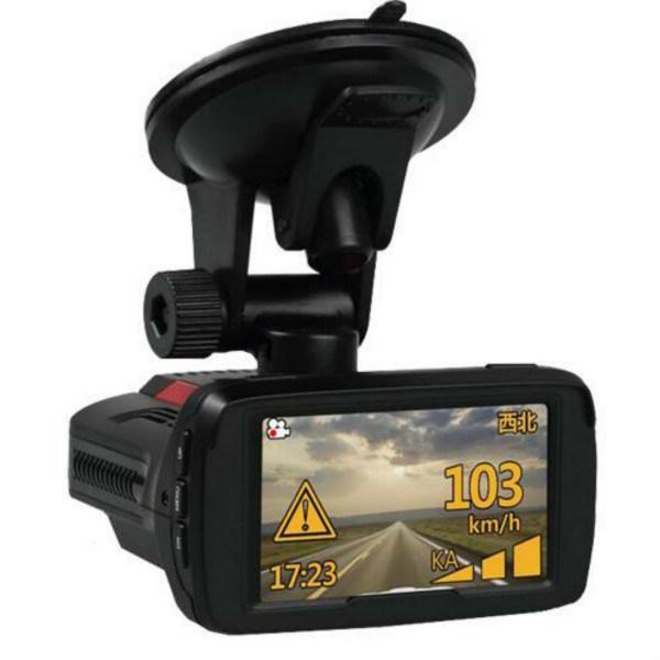 3 in 1 Car Black Box with Radar Detector Anti Police GPS Logger