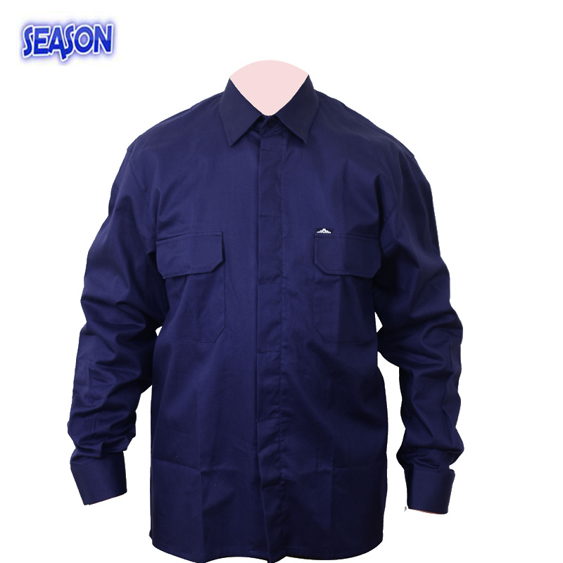 Navy Blue T/C jacket Protective Clothing PPE Workwear