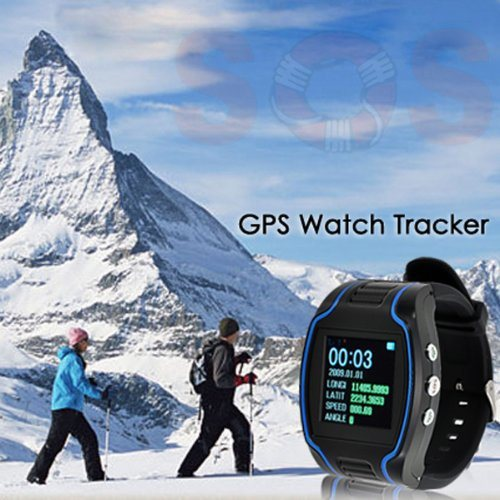 Mini GPS Wrist Watch GPS101 for The Elder/Children, Dual Way Communciate Protect Property Safety Sos Button for Emergency Help