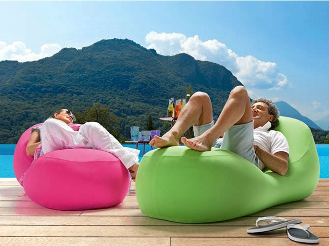 Inflatable One Mouth Opening Air Sofa, New 2017 Nylon Ripstop 210t Sleeping Bag Light