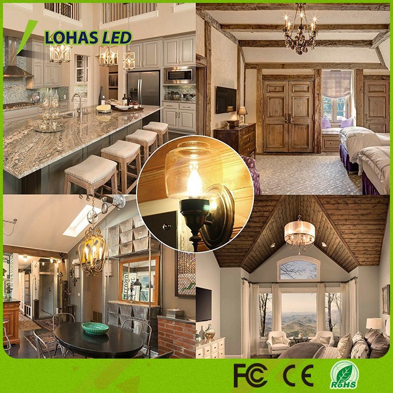USA Market E12 6W Candelabra LED Candle Light Bulb with Ce RoHS UL
