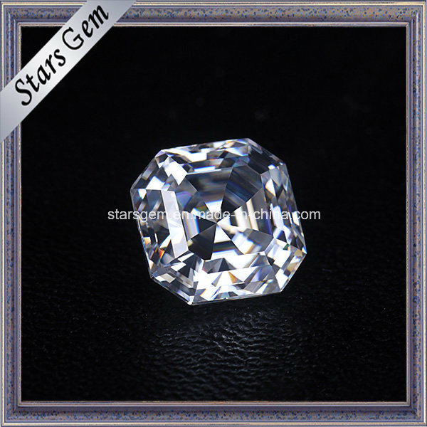 Sparkle Asscher Cut 8X8mm Moissanite Loose Stone