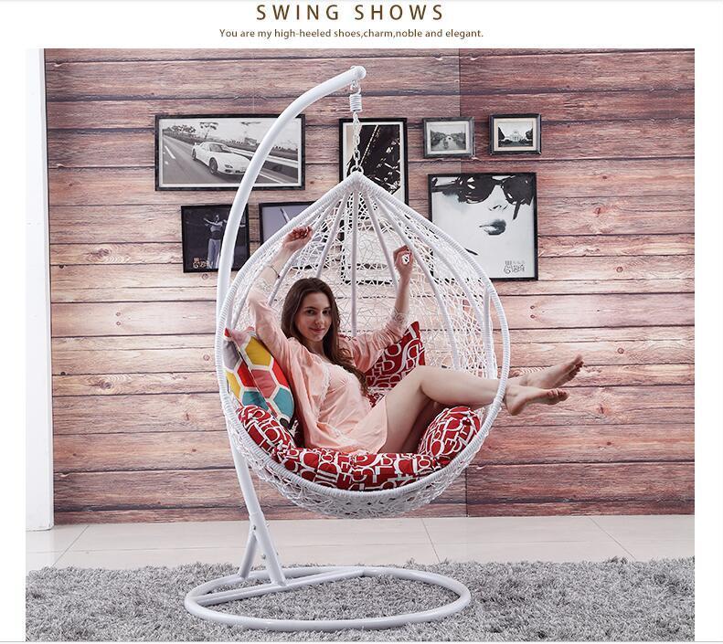 Popular Cheap Price Rattan Swing Chair Rattan Hanging Egg Chair (D011B)