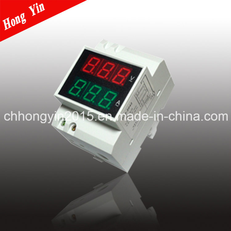 D52-2042 LED DIN-Rail Digital Current&Voltage AC Dual Display Meter