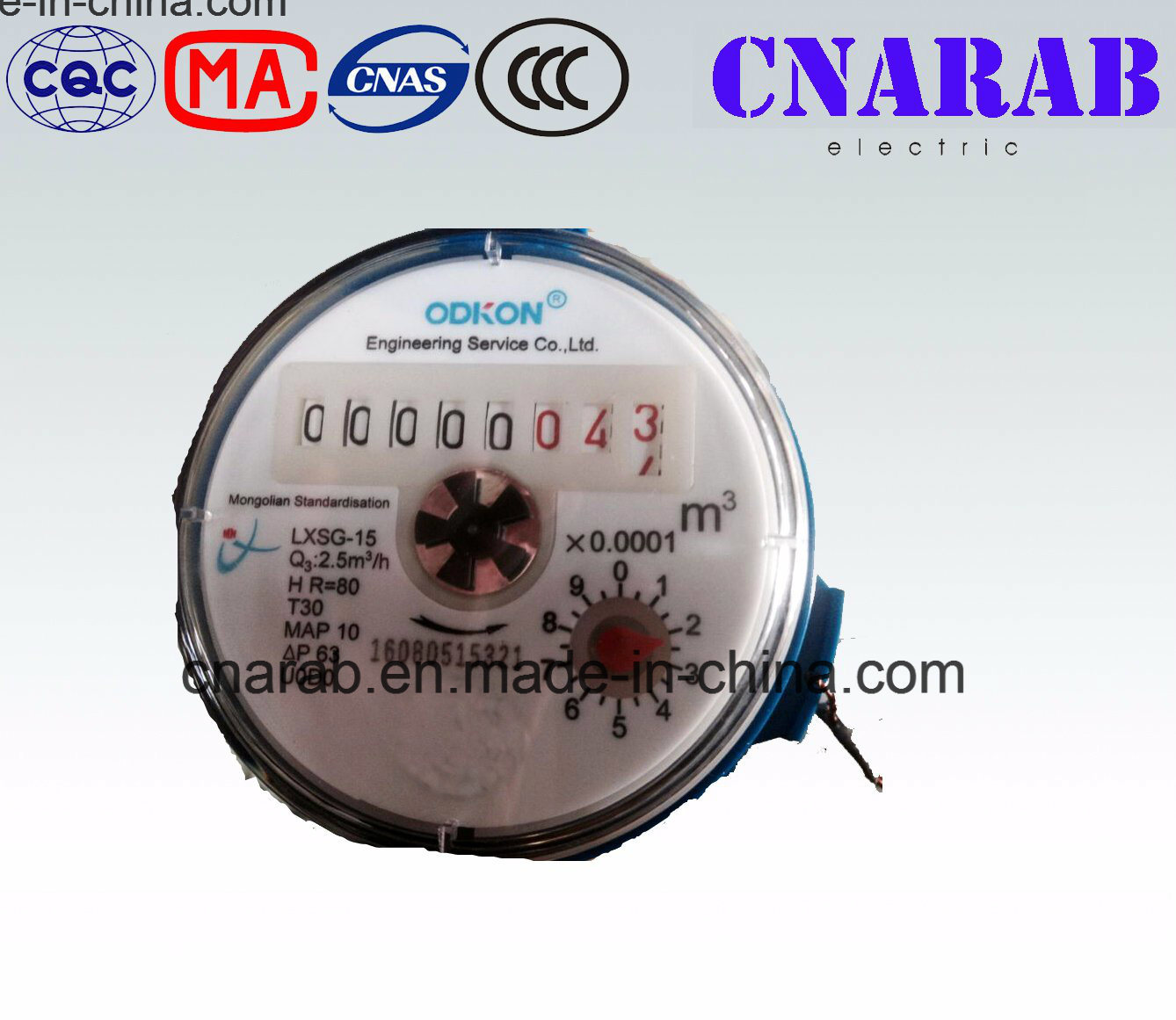Odkon Single Jet Cold Water Meter