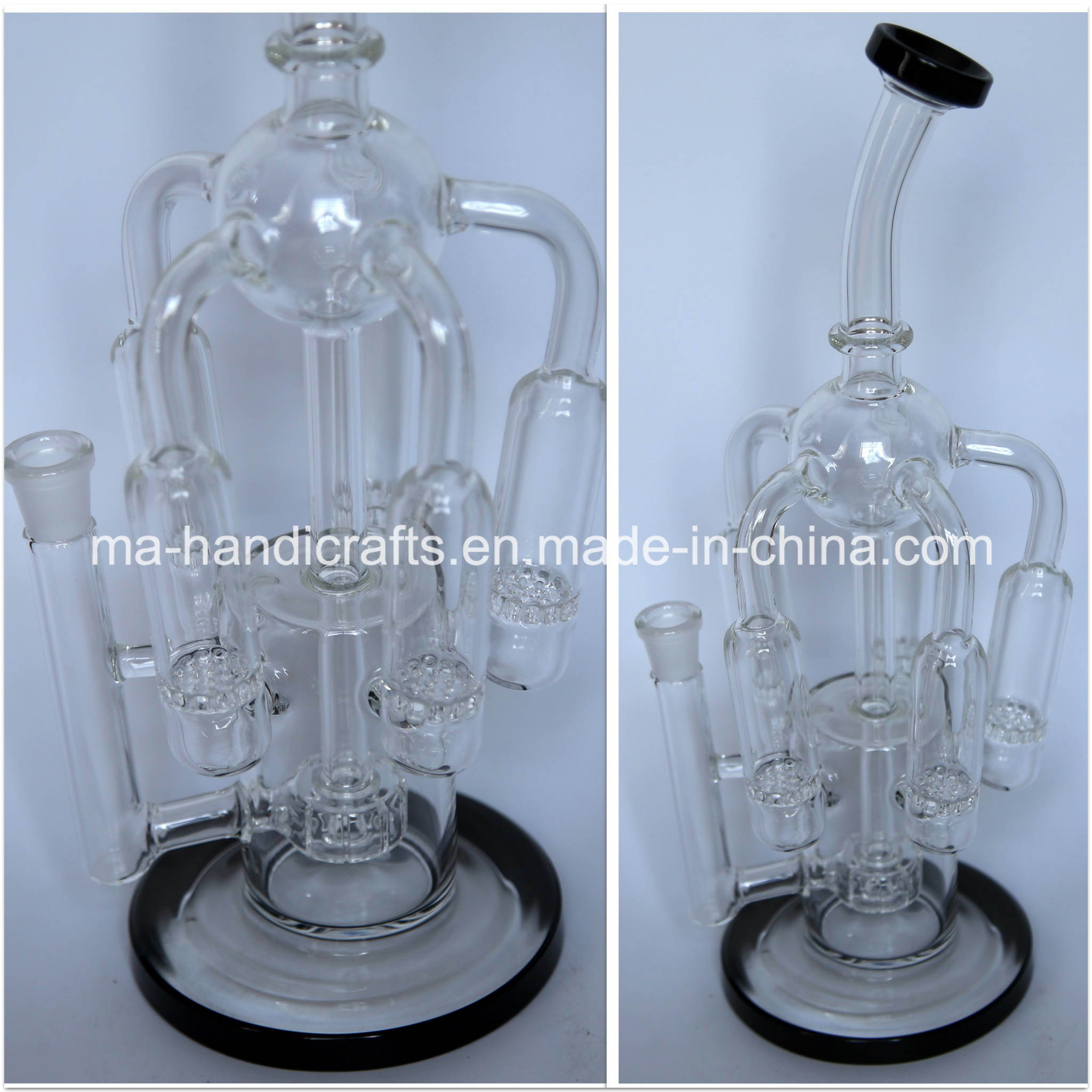 "14"" Hottest Recycle Smoking Bubbler Oil DAB Rigs Water Pipes"