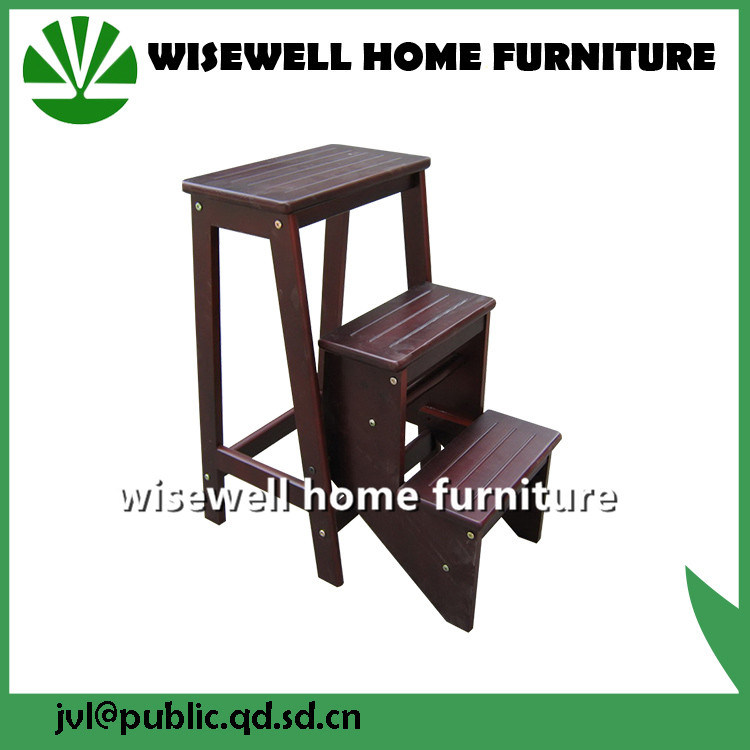 3 Step Folding Wood Ladder Chair