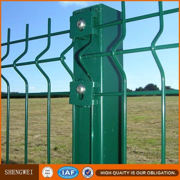 Low Carbon Steel Wire 3 Folds Welded Wire Mesh Fence
