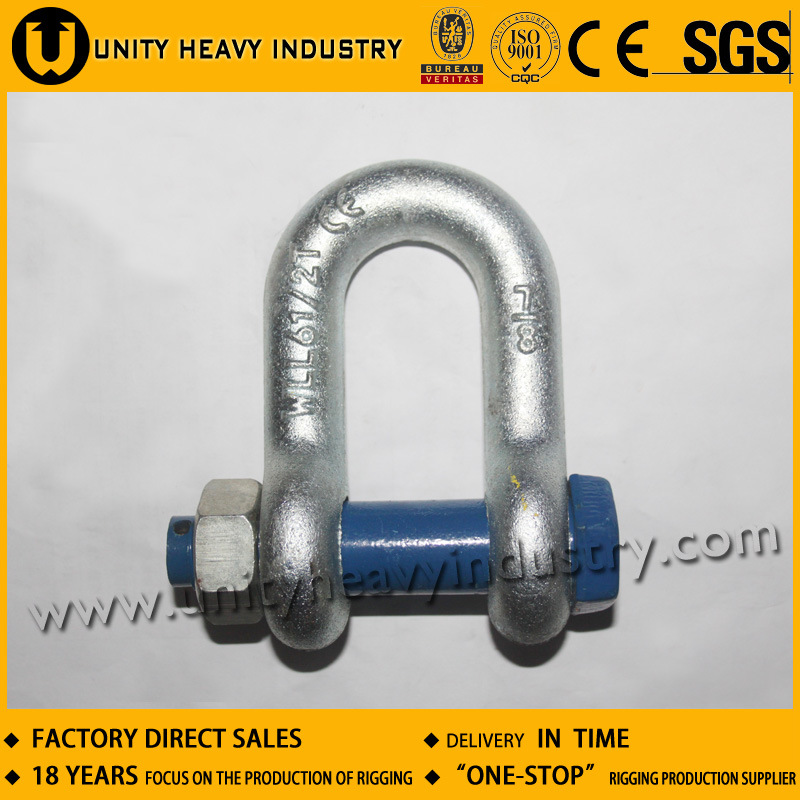 G 2150 Bolt Safety U. S Type Drop Forged Anchor Shackle