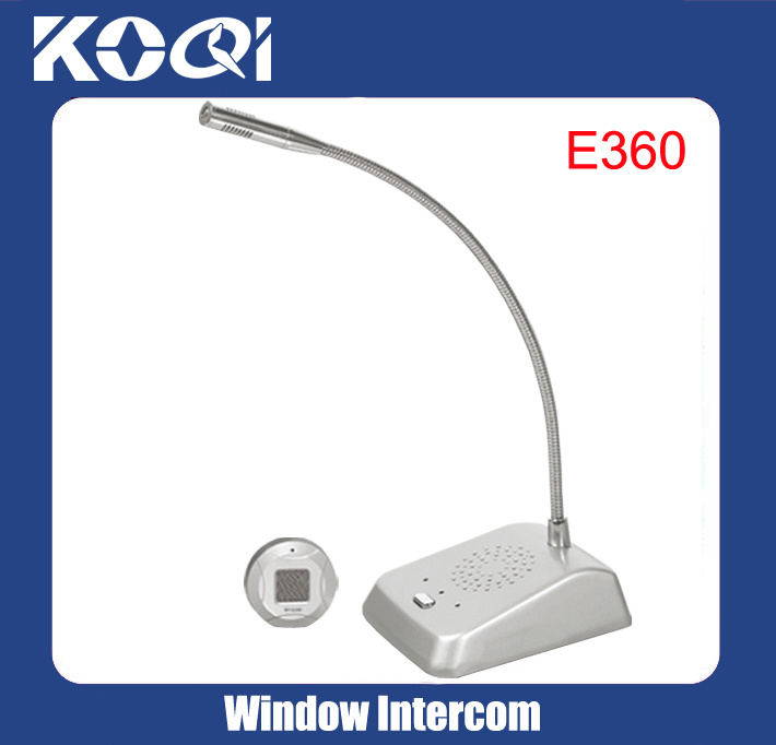 Dual-Way Box Office Intercom Kit Window Counter