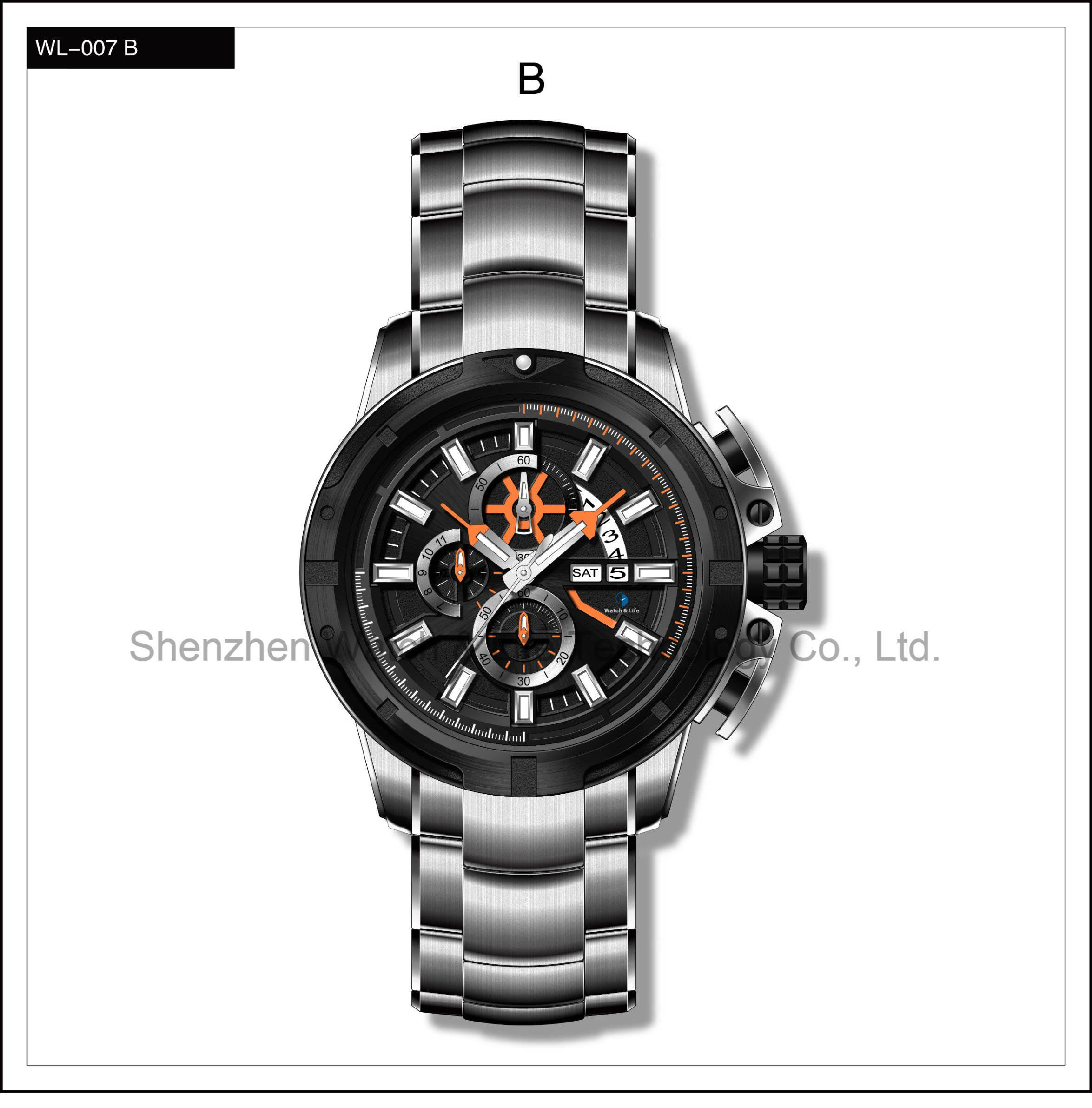 High Level Automatic Swiss Watch Sport Silicone Watch Men′s Wrist Watch
