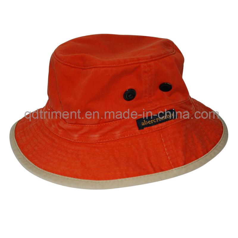Grinding Washed Raw Edge Bill Fishing Bucket Hat (TMBH9460)