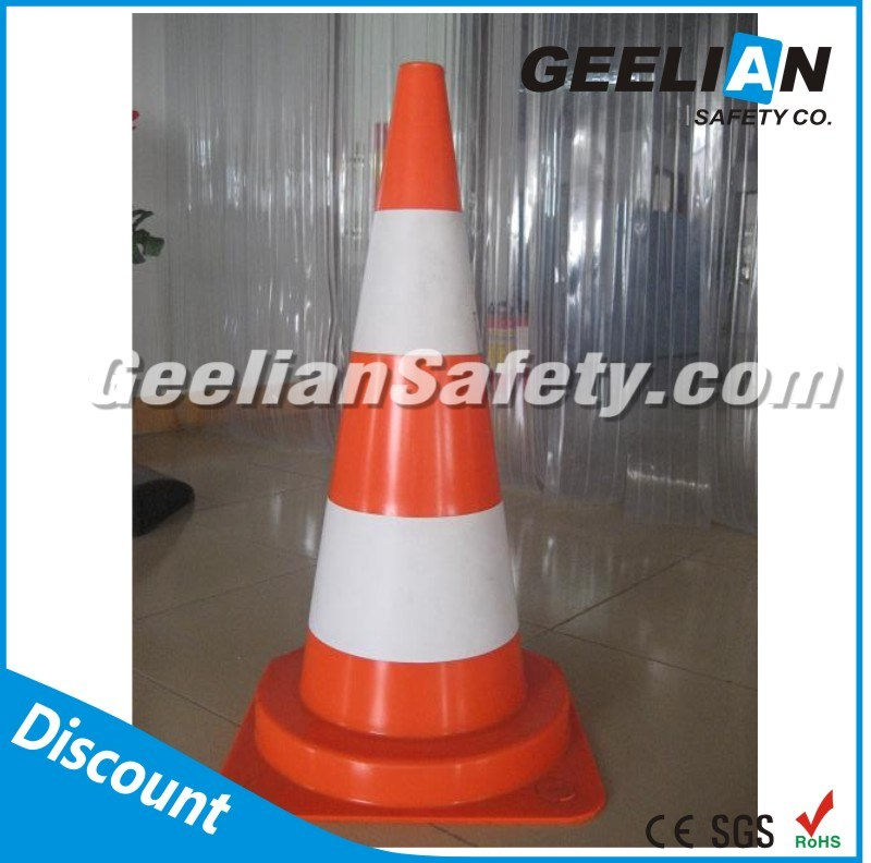 Yellow Green Orange Soft Flexible PVC 36 Inch Traffic Cones