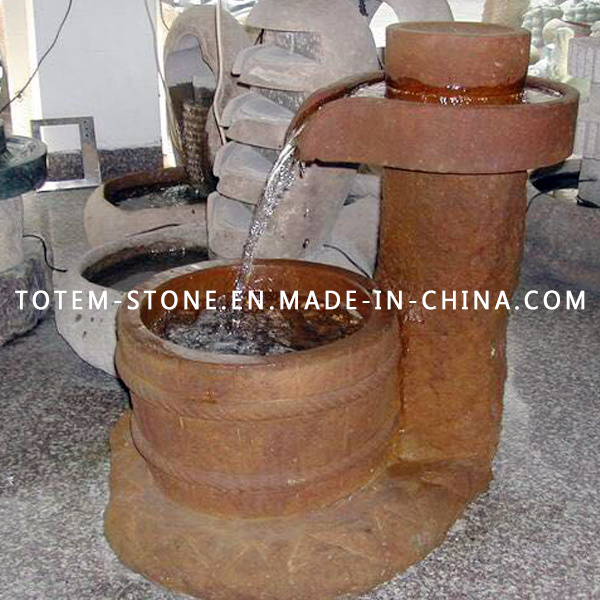 Granite Stone Fountain & Water Feature for Outdoor Garden, Backyard, Patio