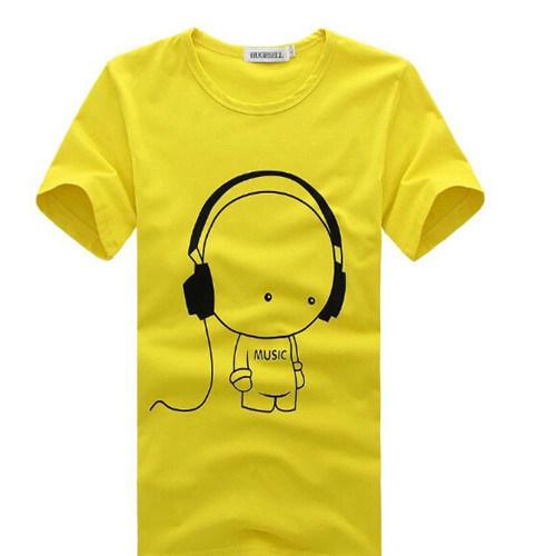 Custom Promotional White Printed T-Shirt Factory /Men`S T-Shirt