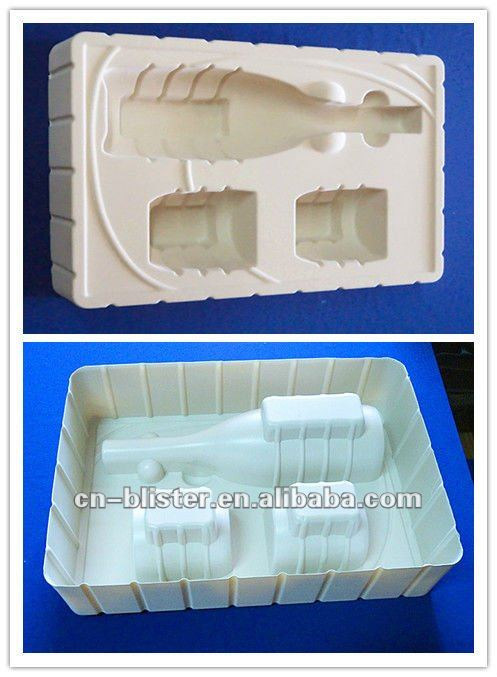PS Pet PVC PP Flocking Blister Plastic Wine Tray Holder Box Cosmetic Tools Electronic Packaging Manufacturing