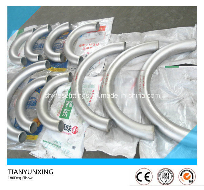 DIN 17440 X6crniti18-10 Seamless Stainless Steel 180degree Pipe Bend